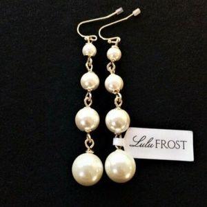 Lulu Frost Graduated Glass Pearl Drop Earrings #1